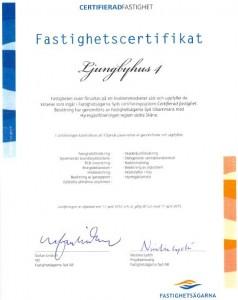 Ljungbyhus 4 Certifikat