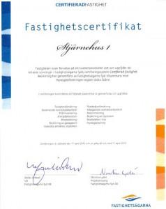 Stjärnehus 1 Certifikat