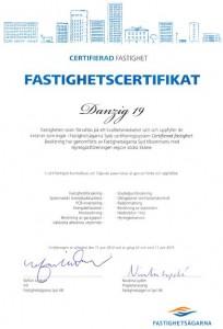 Danzig 19 Certifikat