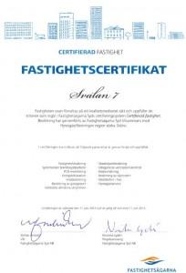 Svalan 7 Certifikat